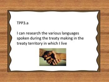 Treaty Education I Can Statements - Grade 3