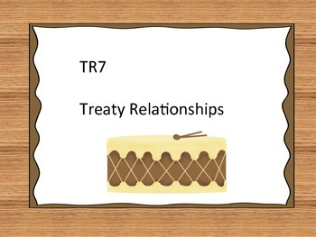 Treaty Education I Can Statements - Grade 7