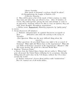 Treaty of Versailles Re-Enacted