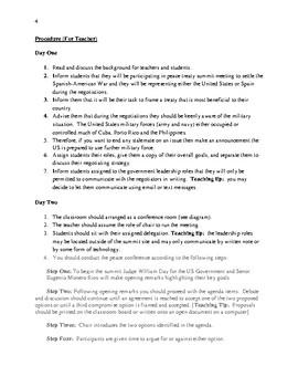 Treaty Simulations: Summit: The Treaty of Paris 1898