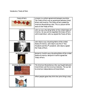Treaty of Paris Adapted Text with Picture Symbols