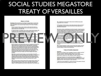 Treaty of Versailles Primary Source Activity