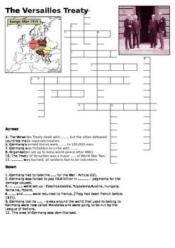 Treaty of Versailles Crossword