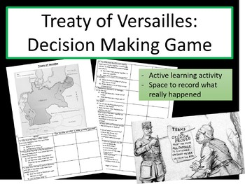 Treaty of Versailles Decision Making Game