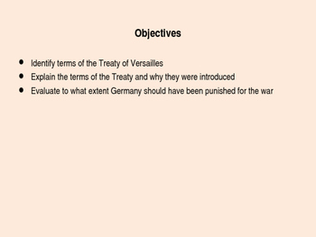 Treaty of Versailles Decision Making Game - Free PPT to go with sheet