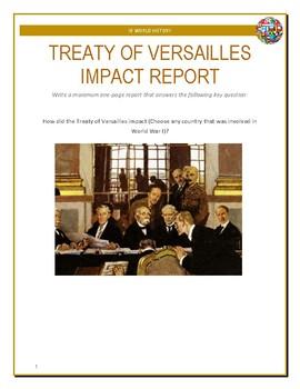 IB History - Treaty of Versailles Impact Report