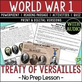 Treaty of Versailles, World War 1, World War I, WW1, WWI