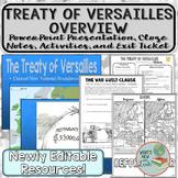 Treaty of Versailles Overview and Activities