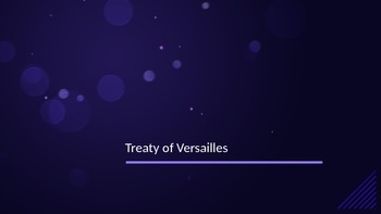 Treaty of Versailles PPT