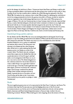 Treaty of Versailles (Paris Peace Conference) student guide and assignment