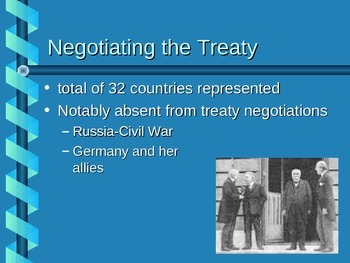Treaty of Versailles Power Point