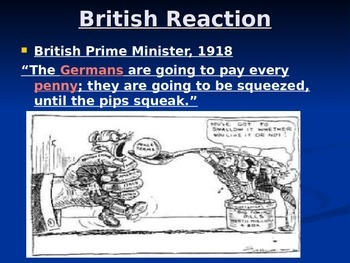 Treaty of Versailles - Reactions - PPT