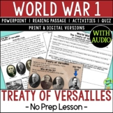 Treaty of Versailles, World War 1, World War I, WW1, WWI;