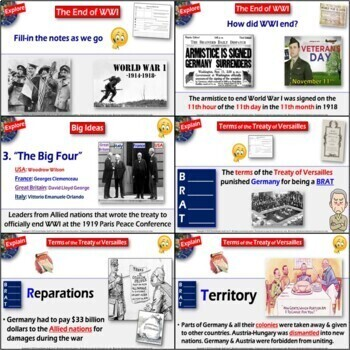 WWI Treaty of Versailles 5-E Lesson & History Dilemma - How Did World War 1 End?