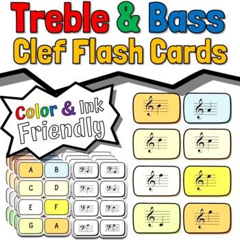 Treble & Bass Clef Flash Cards