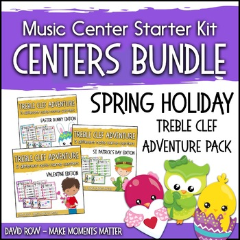 Treble Clef Adventure - Multi Pack Bundle Valentines, St. Patrick's, and Easter