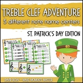 Treble Clef Adventure Pack for Small Groups or Centers - St. Patrick's Day