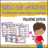 Treble Clef Adventure Pack for Small Groups or Centers- Valentine's Day Edition