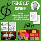 How to Read and Practice Treble Clef Bundle Distance Learning