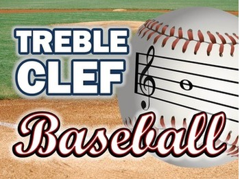 treble clef note reading interactive baseball powerpoint game by