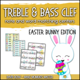 Treble Clef & Bass Clef Note Matching Centers - Easter Bun