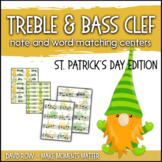 Treble Clef & Bass Clef Note Matching Centers - St. Patric