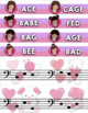 Treble Clef & Bass Clef Note Matching Centers - Valentine's Day Edition