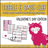 Treble Clef & Bass Clef Note Matching Centers - Valentine'