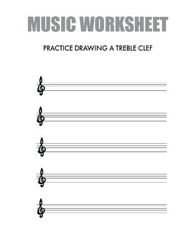 Treble Clef & Bass Clef Worksheet