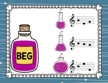 Treble Clef Concoctions Interactive Game {3-Letter Treble Clef Words}