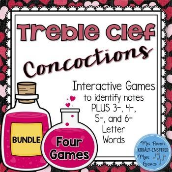 Treble Clef Concoctions Interactive Game {4-Game Bundle}