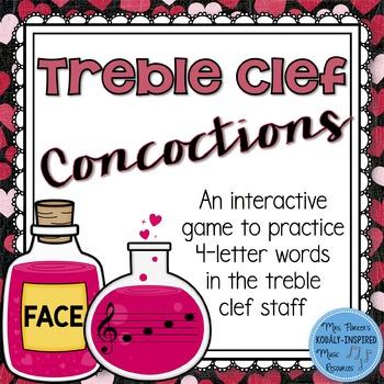 Treble Clef Concoctions Interactive Game {4-Letter Treble Clef Words}