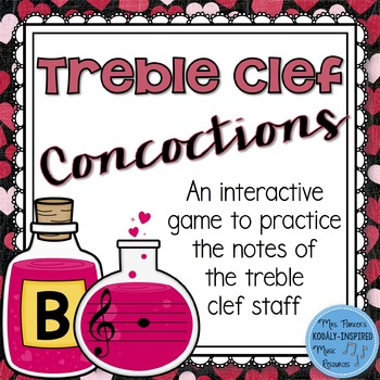 Treble Clef Concoctions Interactive Game {Notes in the Treble Clef Staff}