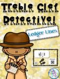 Treble Clef Detective:  Ledger Lines
