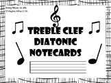 Treble Clef Diatonic Notecards