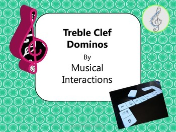 Treble Clef Dominos - Great for Music Centers or Sub Activity