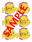 Treble Clef Fish Bowl Note Naming Center