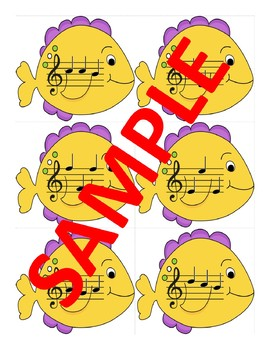 Treble Clef Fish Bowl Note Naming Center