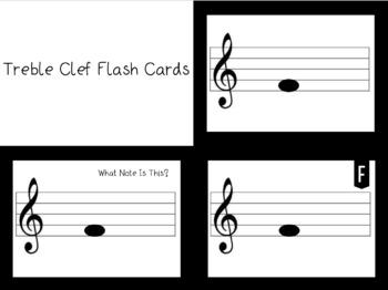 Treble Clef Flash Cards