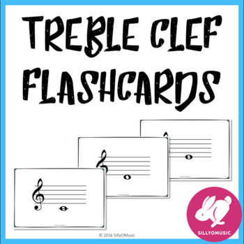 Freebie! Treble Clef Flashcards Free