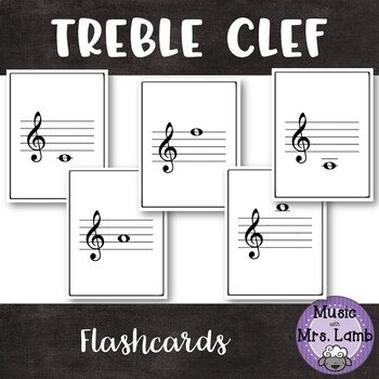 Treble Clef Flashcards