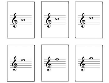 photo about Free Printable Music Flashcards named Treble Clef Flashcards