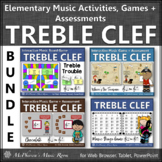 Treble Clef Note Name Games and Activities {Elementary Music} Bundle