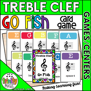 Treble Clef Go Fish Game (Colorful Covers)
