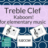 Treble Clef Kaboom for Elementary Music Centers