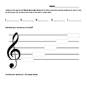 Treble Clef Line Names- Create a Mnemonic Sentence