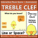 Treble Clef Line or Space? Interactive Music Game + Assess