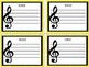 Treble Clef Literacy Cards - A Centre Activity for Staff Reading