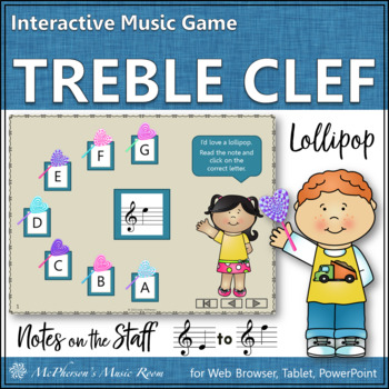 Treble Clef Interactive Music Game (lollipop)