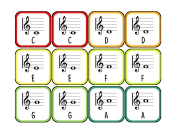Treble Clef Memory Match Game